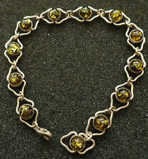 BALTIC  GREEN  AMBER  BRACELET WOMEN RARE #5 su