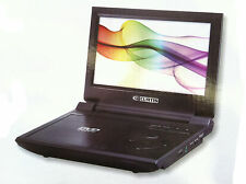 "Curtis 9"" large LCD portable DVD player 2.5 hr Battery Black JPEG multi region C"