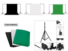 10x6ft Photography Photo Studio Background Backdrop Support Stand System Kit Set