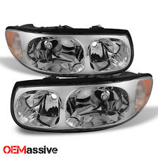 2000-2005 Buick LeSabre Replacement Headlights Set Left + Right Headlamps Pair