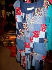 SUTTLES And SEAWINDS Vicki Lynn Bondon Patchwork Vest/Skirt Size M-L Canada