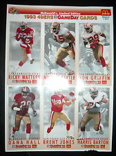 MCDONALDS LIMITED EDITION 1993 NFL GAMEDAY COLLECTOR CARDS SET OF 2