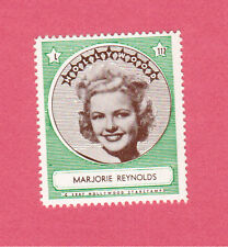 Marjorie Reynolds  Movie Film Star 1947 Hollywood Sticker Stamp