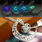 Steampunk Pretty Magic Fairy Locket Glow In The Dark Moon Pendant Necklace Gift