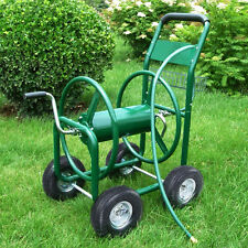 Garden Water Hose Reel Cart 300FT Outdoor Heavy Duty Yard Planting W/Basket New