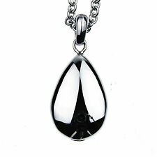Tear Drop Smooth Memorial Cremation Jewelry Urn Necklace for Ash 24 inch Chain