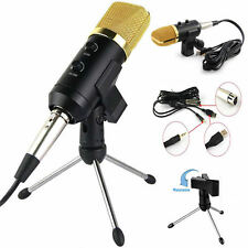 Audio USB Cardioid Condenser Studio Sound Recording Microphone Mic w/ Stand