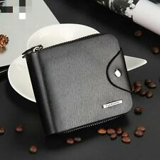 Mens Leather ID Card Holder Billfold Zip Purse Wallet Business Handbag Clutch ok