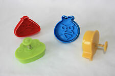 Angry Birds Pastry and Sugarcraft Ejector Plunger Cutters 4 in Blister Pack