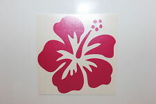 Hawaiian Hibiscus Flower Lips Flip Flops Car Decal / Sticker - Hot Pink