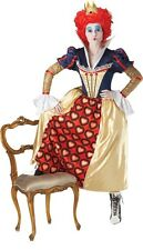 Fancy Dress Costume ~ Alice In Wonderland Red Queen Lg 16-18