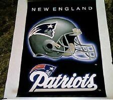 New England Patriots Helmet Logo Original Norman James Poster OOP