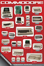 History of Commodore Computers Poster - Worldwide Shipping Price Reduced