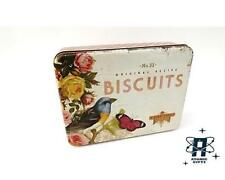 NOSTALGIA BISCUITS VINTAGE 50S STYLE LARGE RECTANGULAR METAL STORAGE CAKE TIN