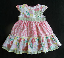 Baby clothes GIRL 12-18m Miniclub cotton summer dress underskirt frill SEE SHOP!
