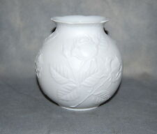Kaiser Germany White Bisque Porcelain Rose Vase M Frey