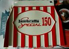Lambretta 150 special Red Stripped cuppini Mudflap Hard Rubber Type.