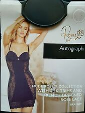 "M&S AUTOGRAPH ""ROSIE - NUDE ROSE SILK & LACE COLLECTION MULTIWAY BRA SLIP 34B -"