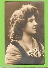 #G.  EARLY   GERMAN POSTCARD - WOMAN & FLOWERS, 1909