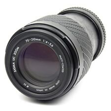 Vintage Minolta SLR MD Mount 70-210mm Zoom Lens f1.4 Sigma Brand