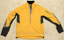 Mint! REI Cycling Running Shell Jacket-Men's Medium-Yellow Black Gray-Waterproof