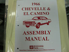 1966 CHEVELLE, EL CAMINO (ALL MODELS) ASSEMBLY MANUAL