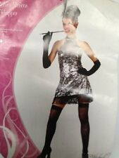 SILVER SCREEN FLAPPER  DRESS UP COSTUME HALLOWEEN REDUCED TO CLEAR 1 ONLY SMALL