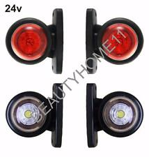 4 pcs. LED SIDE OUTLINE MARKER 24V RED/WHITE LIGHT E-MARKED SCANIA VOLVO DAF