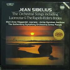 JEAN SIBELIUS orchestral songs LP Mint- BIS LP 270 DMM Audiophile German Vinyl