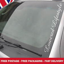 Lowered Life Style Windscreen Sticker Vauxhall VW Ford DUB BMW Large Decals AM11