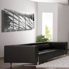 Silver Metal Wall Art Panels Modern - Contemporary Abstract Home Decor Sculpture