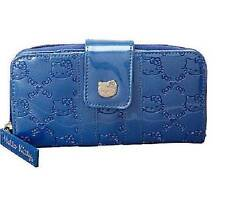 SANRIO HELLO KITTY TRUE BLUE PATENT EMBOSSED WALLET by Loungefly (New) Licensed