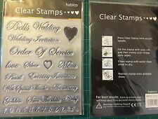 1 x Sheet Habico Clear Stamps - Wedding Text 2 - brand new item
