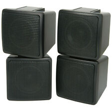 "Pair Of Compact 3"" Satellite Corner Speakers - 100W 8OHM Background Wall Mounted"