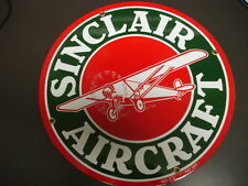SINCLAIR AIRCRAFT Oil Gas GASOLINE Porcelain Advertising sign