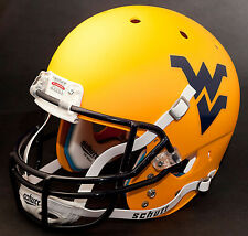 WEST VIRGINIA MOUNTAINEERS Schutt  XP Authentic GAMEDAY Football Helmet YELLOW