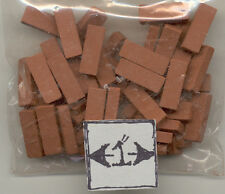 Bricks -  Real Ceramic exterior miniature  Houseworks  8204 50pcs 1/12 scale