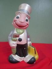 RARE Vintage 1970's Walt Disney Prod Ceramic Handpainted JIMINY CRICKET Figurine