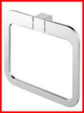 Bisk Futura Silver 02996 Oval Towel Rail Ring, Chrome - Bathroom