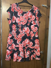 Flute hem Floral Dress - PLUS SIZE 22, BNWT - cute/party/festival - short dress