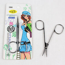 Stainless Steel Curved Mustache Nose Hair Scissors Eyebrows Nail Trimmer Tool C&