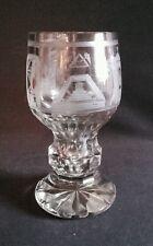 Ancien verre maçonnique en verre soufflé gravé fin XIX ème