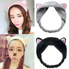 Female Ladies Women Makeup Cute Cat Ear Headband Headdress Bath Sponges Bands