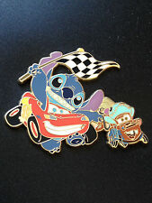 Disney Tokyo Japan Costume Stitch and Scrump Lightning McQueen Mater Cars 2 Pin