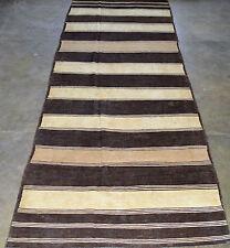 1950's Vintage AFGHAN KILIM 4'.6''X12'.2'' Handknotted 100% Wool  Rug PK 2396