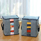 Bamboo Charcoal Clothes Storage Case Box Holder Bags Gray