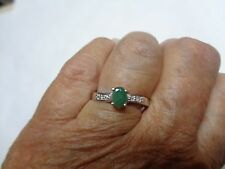 Estate Ring .79 ct NATURAL Color Change Alexandrite and Diamond  in 14K WG