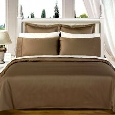1200 Thread Count 100% Egyptian Cotton Bed Sheet Set OLYMPIC QUEEN Taupe Solid