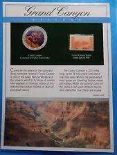 GRAND CANYON NATIONAL PARK ARIZONA COLORIZED US 2005 EAGLE 999 SILVER COIN STAMP