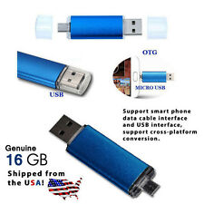 16GB OTG Dual USB Micro USB Flash Stick Pen Drive for PC/Phone - USA shipped!